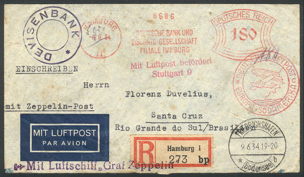 Lot 23 - germany postal history -  Guillermo Jalil - Philatino Auction #1946 WORLDWIDE POSTAL HISTORY, COVERS AND CARDS