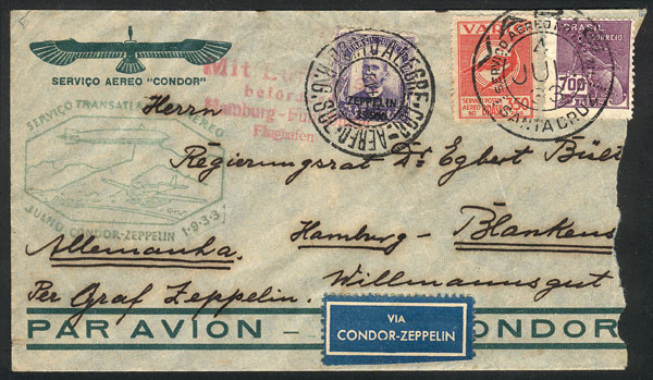 Lot 259 - brazil postal history -  Guillermo Jalil - Philatino Auction #1946 WORLDWIDE POSTAL HISTORY, COVERS AND CARDS