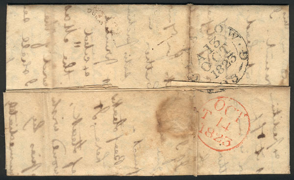 Lot 420 - Great Britain postal history -  Guillermo Jalil - Philatino Auction #1946 WORLDWIDE POSTAL HISTORY, COVERS AND CARDS
