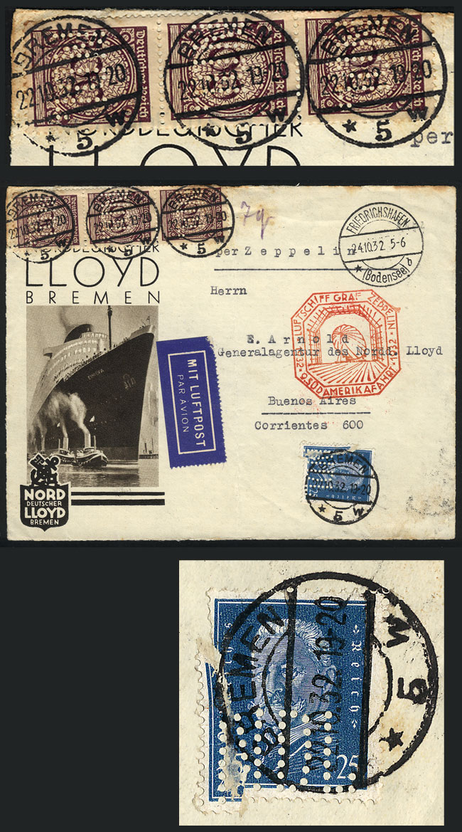 Lot 19 - germany postal history -  Guillermo Jalil - Philatino Auction #1946 WORLDWIDE POSTAL HISTORY, COVERS AND CARDS
