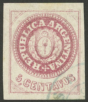 Lot 22 - Argentina escuditos -  Guillermo Jalil - Philatino Auction #1947 ARGENTINA: great auction with very interesting lots