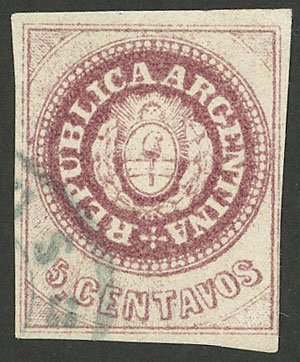 Lot 26 - Argentina escuditos -  Guillermo Jalil - Philatino Auction #1947 ARGENTINA: great auction with very interesting lots
