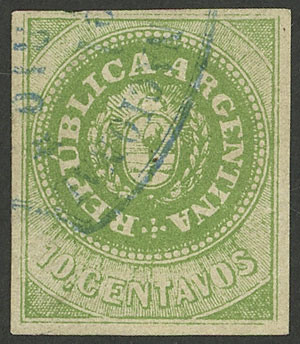 Lot 8 - Argentina escuditos -  Guillermo Jalil - Philatino Auction #1947 ARGENTINA: great auction with very interesting lots