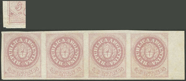 Lot 10 - Argentina escuditos -  Guillermo Jalil - Philatino Auction #1947 ARGENTINA: great auction with very interesting lots