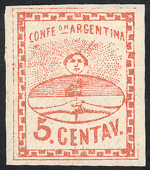 Lot 5 - Argentina confederation -  Guillermo Jalil - Philatino Auction #1947 ARGENTINA: great auction with very interesting lots