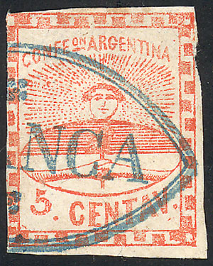 Lot 4 - Argentina confederation -  Guillermo Jalil - Philatino Auction #1947 ARGENTINA: great auction with very interesting lots