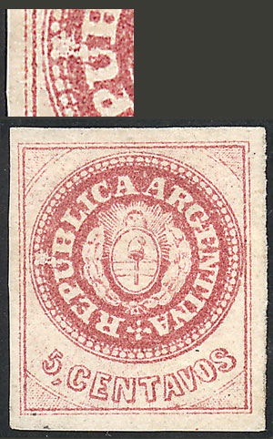 Lot 20 - Argentina escuditos -  Guillermo Jalil - Philatino Auction #1947 ARGENTINA: great auction with very interesting lots