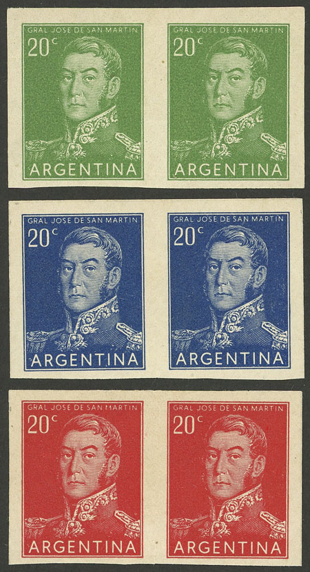 Lot 12 - Argentina general issues -  Guillermo Jalil - Philatino Auction #1948 ARGENTINA - DEFINITIVE STAMPS - PRÓCERES & RIQUEZAS