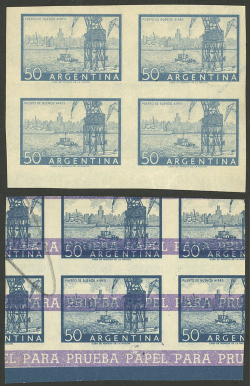 Lot 54 - Argentina general issues -  Guillermo Jalil - Philatino Auction #1948 ARGENTINA - DEFINITIVE STAMPS - PRÓCERES & RIQUEZAS