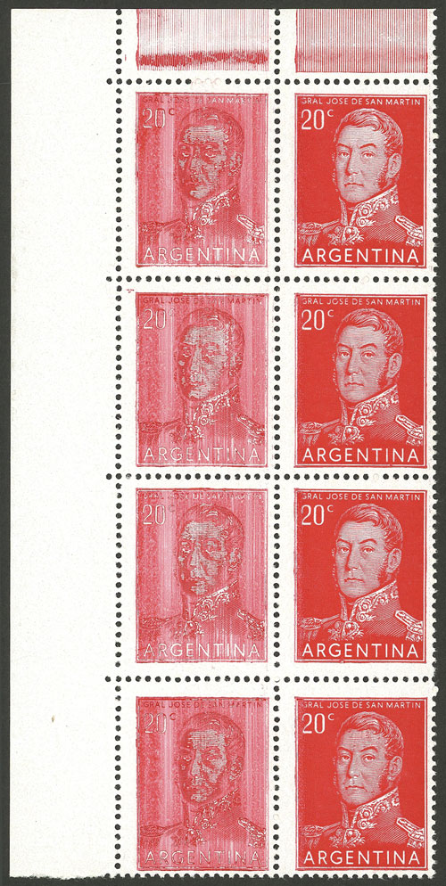 Lot 8 - Argentina general issues -  Guillermo Jalil - Philatino Auction #1948 ARGENTINA - DEFINITIVE STAMPS - PRÓCERES & RIQUEZAS