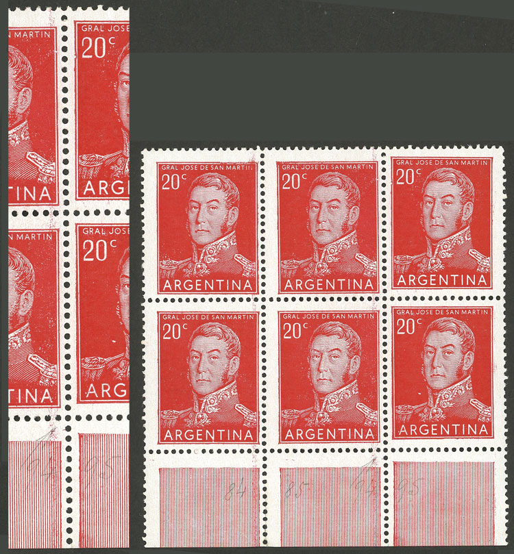 Lot 6 - Argentina general issues -  Guillermo Jalil - Philatino Auction #1948 ARGENTINA - DEFINITIVE STAMPS - PRÓCERES & RIQUEZAS