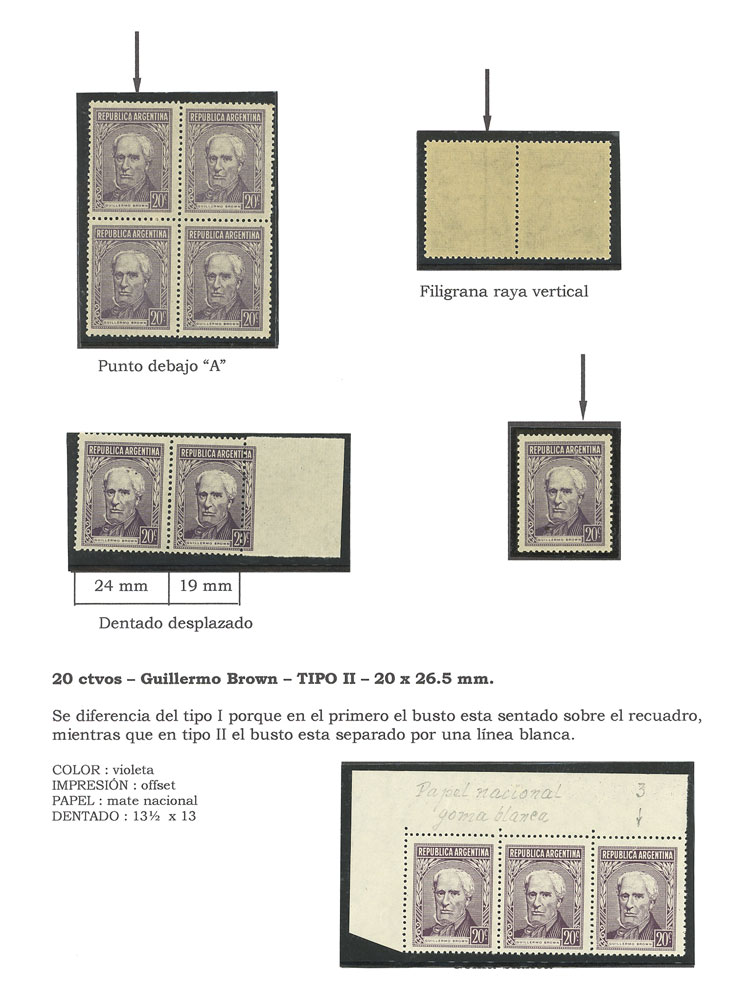 Lot 16 - Argentina general issues -  Guillermo Jalil - Philatino Auction #1948 ARGENTINA - DEFINITIVE STAMPS - PRÓCERES & RIQUEZAS