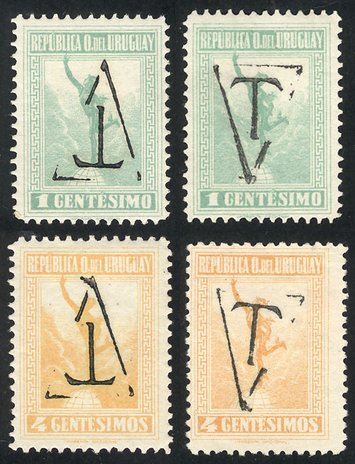 Lot 2093 - Uruguay Postage due stamps -  Guillermo Jalil - Philatino Auction #1949  WORLDWIDE + ARGENTINA: End-of-year general auction