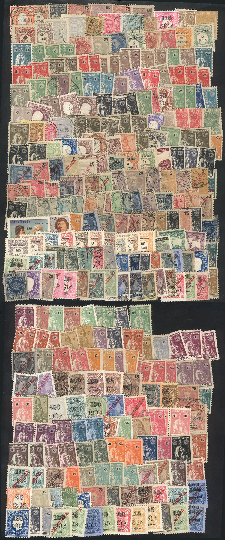 Lot 1243 - cape verde Lots and Collections -  Guillermo Jalil - Philatino Auction #1949  WORLDWIDE + ARGENTINA: End-of-year general auction