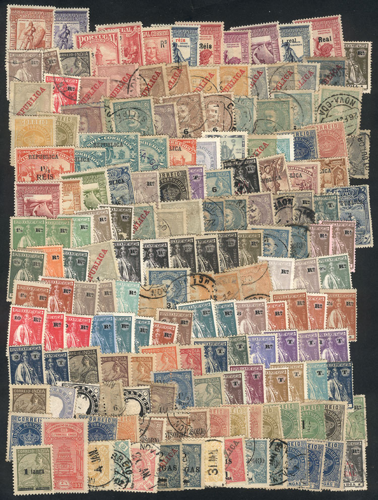 Lot 1613 - portuguese india Lots and Collections -  Guillermo Jalil - Philatino Auction #1949  WORLDWIDE + ARGENTINA: End-of-year general auction