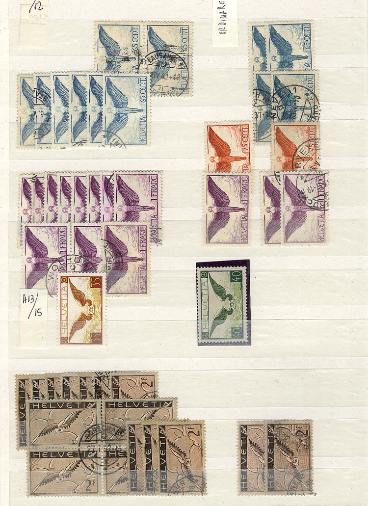 Lot 1995 - Switzerland Lots and Collections -  Guillermo Jalil - Philatino Auction #1949  WORLDWIDE + ARGENTINA: End-of-year general auction