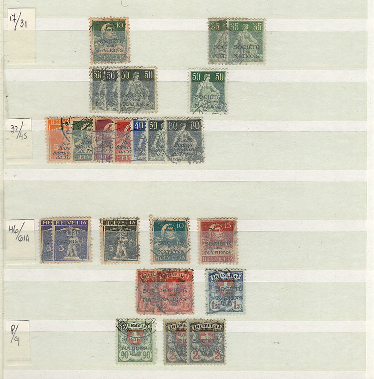 Lot 1997 - Switzerland Lots and Collections -  Guillermo Jalil - Philatino Auction #1949  WORLDWIDE + ARGENTINA: End-of-year general auction