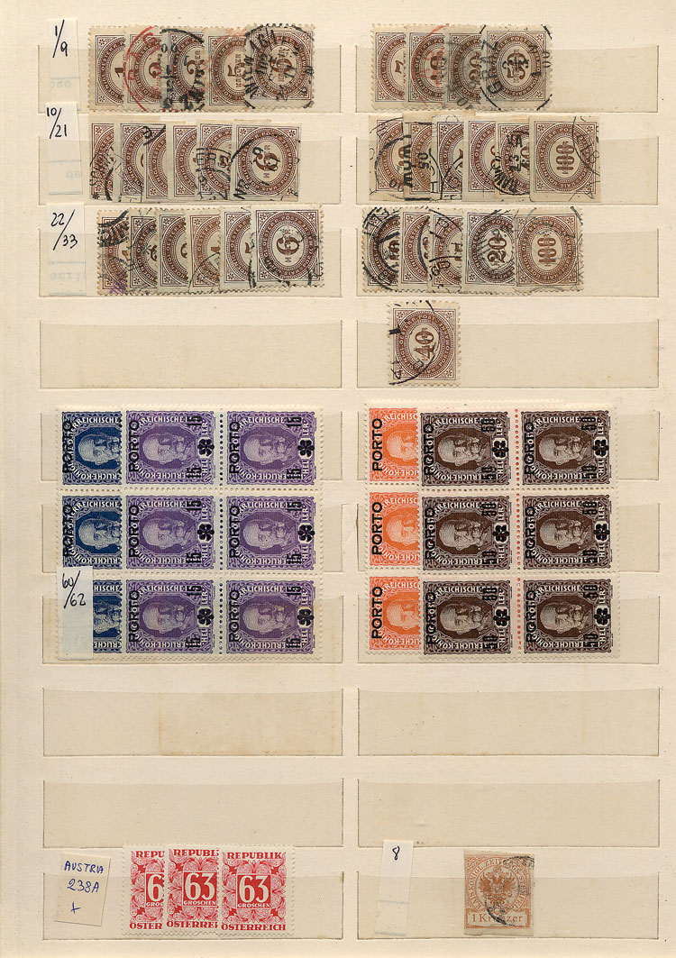 Lot 810 - AUSTRIA + BOSNIA Lots and Collections -  Guillermo Jalil - Philatino Auction #1949  WORLDWIDE + ARGENTINA: End-of-year general auction
