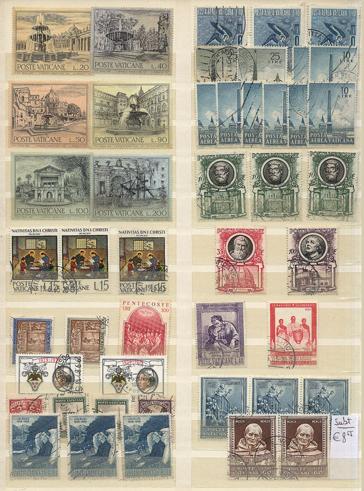 Lot 2112 - vatican Lots and Collections -  Guillermo Jalil - Philatino Auction #1949  WORLDWIDE + ARGENTINA: End-of-year general auction