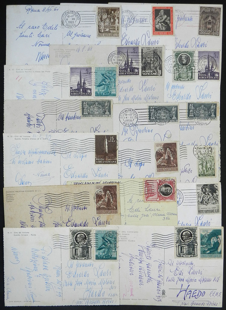 Lot 2110 - vatican postal history -  Guillermo Jalil - Philatino Auction #1949  WORLDWIDE + ARGENTINA: End-of-year general auction