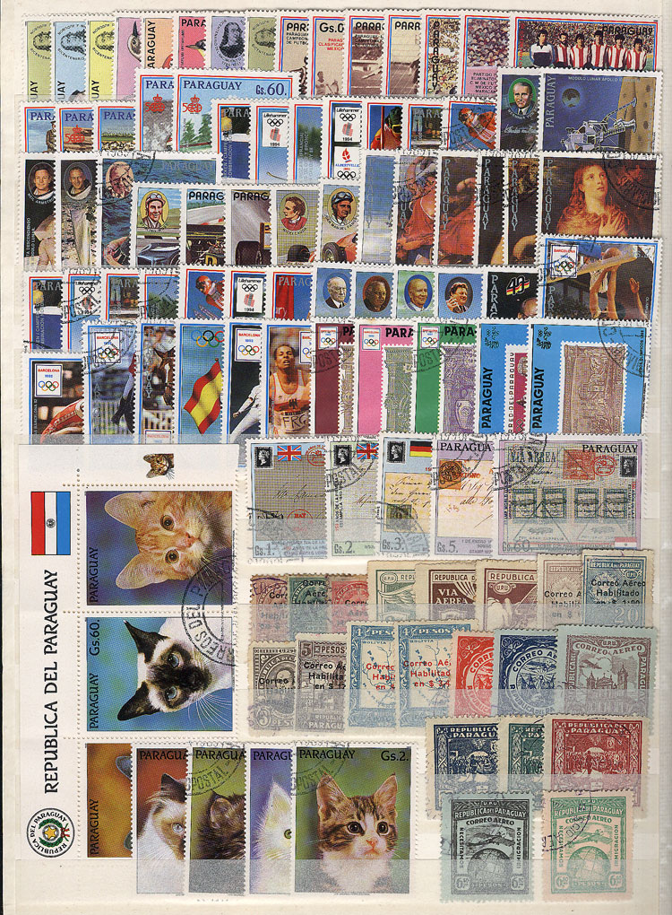 Lot 1799 - Paraguay Lots and Collections -  Guillermo Jalil - Philatino Auction #1949  WORLDWIDE + ARGENTINA: End-of-year general auction