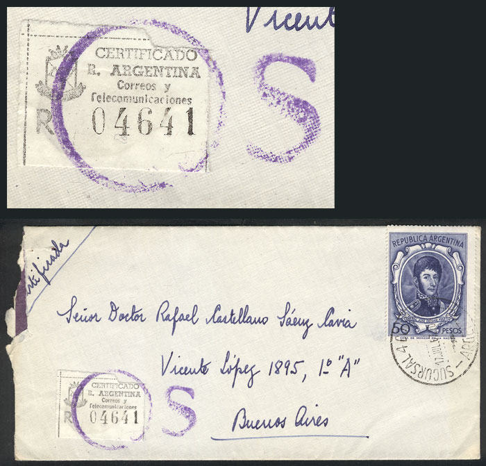 Lot 636 - Argentina postal history -  Guillermo Jalil - Philatino Auction #1949  WORLDWIDE + ARGENTINA: End-of-year general auction