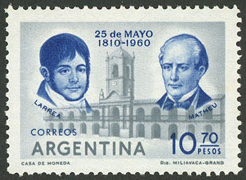 Lot 421 - Argentina general issues -  Guillermo Jalil - Philatino Auction #1949  WORLDWIDE + ARGENTINA: End-of-year general auction