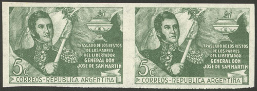 Lot 401 - Argentina general issues -  Guillermo Jalil - Philatino Auction #1949  WORLDWIDE + ARGENTINA: End-of-year general auction