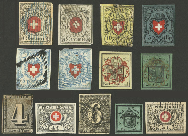 Lot 1996 - Switzerland Lots and Collections -  Guillermo Jalil - Philatino Auction #1949  WORLDWIDE + ARGENTINA: End-of-year general auction