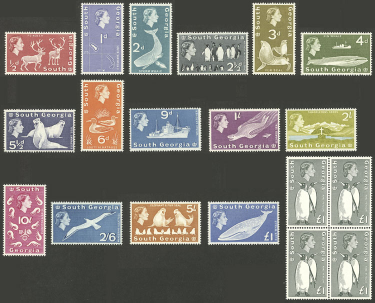 Lot 1734 - falkland islands/malvinas general issues -  Guillermo Jalil - Philatino Auction #1949  WORLDWIDE + ARGENTINA: End-of-year general auction