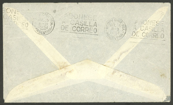 Lot 2109 - vatican postal history -  Guillermo Jalil - Philatino Auction #1949  WORLDWIDE + ARGENTINA: End-of-year general auction