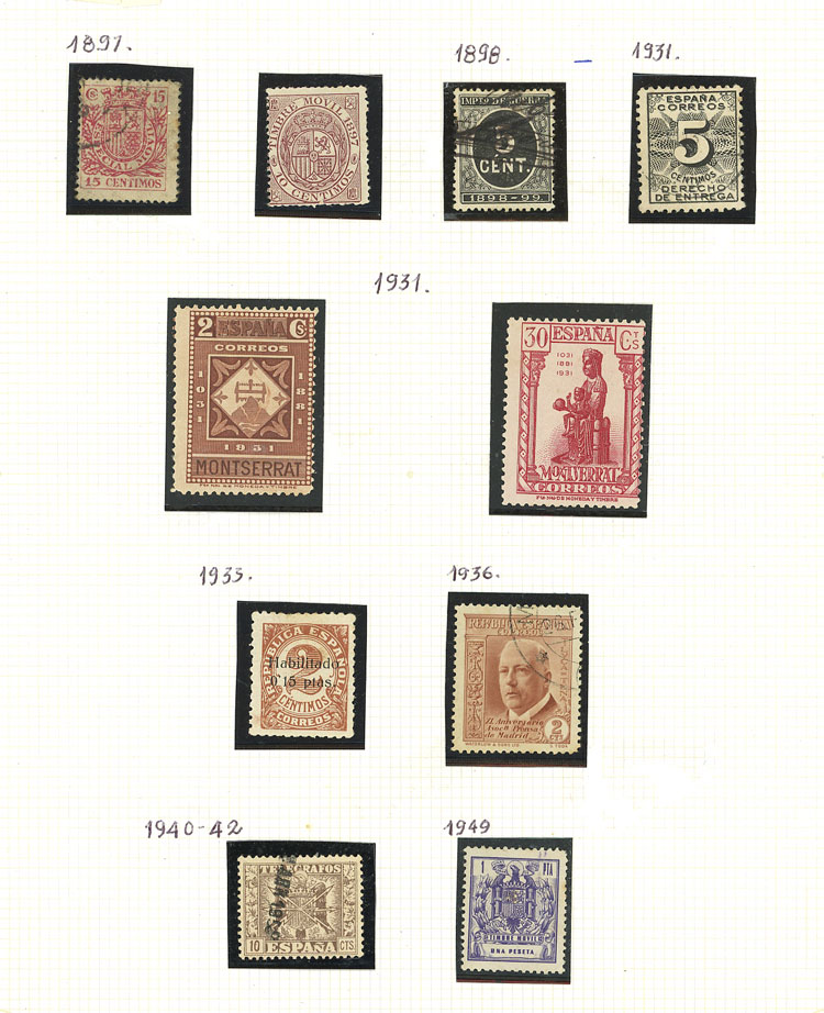 Lot 1426 - Spain Lots and Collections -  Guillermo Jalil - Philatino Auction #1949  WORLDWIDE + ARGENTINA: End-of-year general auction