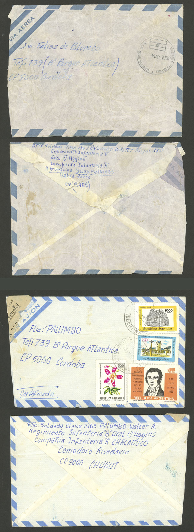 Lot 1728 - falkland islands/malvinas postal history -  Guillermo Jalil - Philatino Auction #1949  WORLDWIDE + ARGENTINA: End-of-year general auction