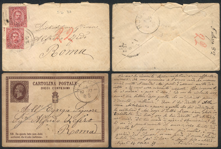 Lot 1633 - Italy postal history -  Guillermo Jalil - Philatino Auction #1949  WORLDWIDE + ARGENTINA: End-of-year general auction