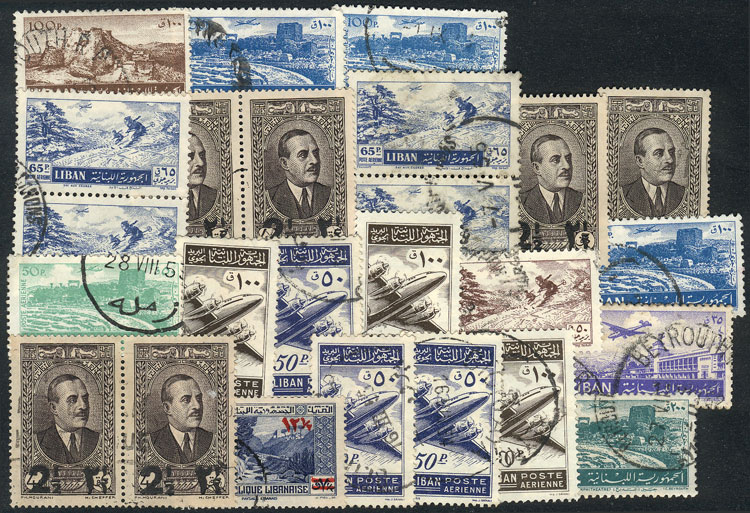 Lot 1700 - Lebanon Lots and Collections -  Guillermo Jalil - Philatino Auction #1949  WORLDWIDE + ARGENTINA: End-of-year general auction