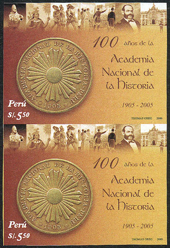 Lot 1804 - Peru general issues -  Guillermo Jalil - Philatino Auction #1949  WORLDWIDE + ARGENTINA: End-of-year general auction