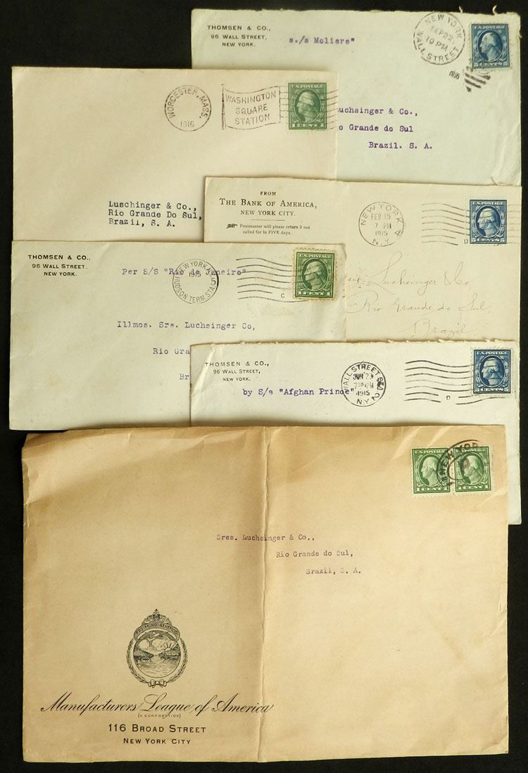 Lot 1446 - united states postal history -  Guillermo Jalil - Philatino Auction #1949  WORLDWIDE + ARGENTINA: End-of-year general auction