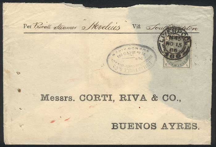 Lot 1539 - Great Britain postal history -  Guillermo Jalil - Philatino Auction #1949  WORLDWIDE + ARGENTINA: End-of-year general auction