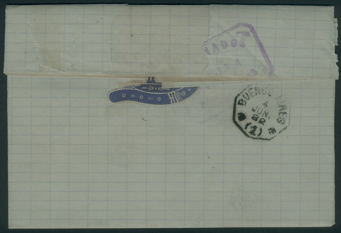 Lot 2098 - Uruguay postal history -  Guillermo Jalil - Philatino Auction #1949  WORLDWIDE + ARGENTINA: End-of-year general auction
