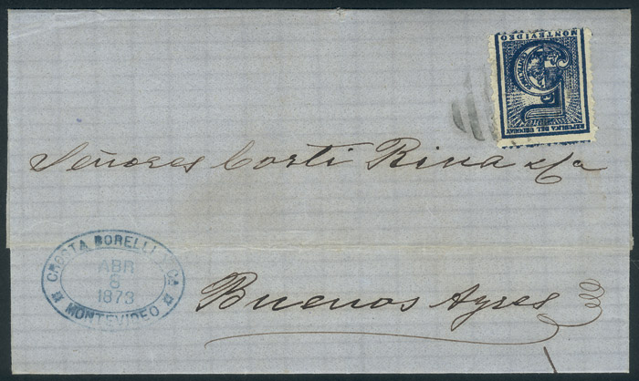 Lot 2096 - Uruguay postal history -  Guillermo Jalil - Philatino Auction #1949  WORLDWIDE + ARGENTINA: End-of-year general auction