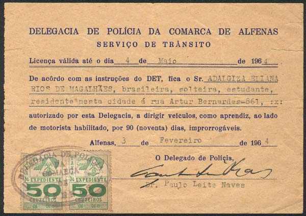 Lot 1083 - brazil revenue stamps -  Guillermo Jalil - Philatino Auction #1949  WORLDWIDE + ARGENTINA: End-of-year general auction