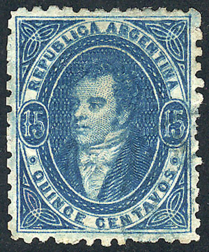 Lot 265 - Argentina rivadavias -  Guillermo Jalil - Philatino Auction #1949  WORLDWIDE + ARGENTINA: End-of-year general auction