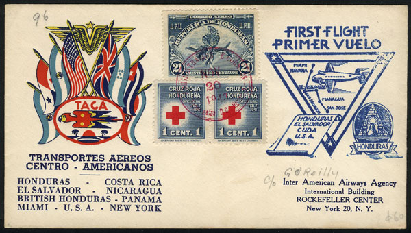 Lot 1583 - Honduras postal history -  Guillermo Jalil - Philatino Auction #1949  WORLDWIDE + ARGENTINA: End-of-year general auction