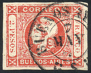 Lot 32 - Argentina cabecitas -  Guillermo Jalil - Philatino Auction #1950 ARGENTINA: