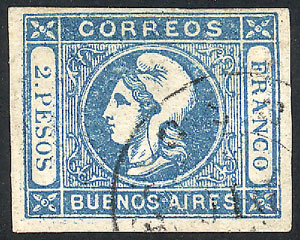 Lot 36 - Argentina cabecitas -  Guillermo Jalil - Philatino Auction #1950 ARGENTINA: