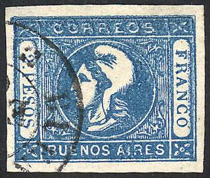 Lot 37 - Argentina cabecitas -  Guillermo Jalil - Philatino Auction #1950 ARGENTINA: