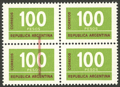 Lot 985 - Argentina general issues -  Guillermo Jalil - Philatino Auction #1950 ARGENTINA: