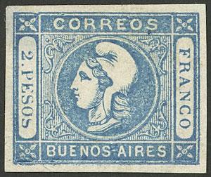 Lot 35 - Argentina cabecitas -  Guillermo Jalil - Philatino Auction #1950 ARGENTINA: