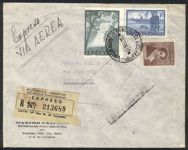 Lot 1619 - Argentina postal history -  Guillermo Jalil - Philatino Auction #1950 ARGENTINA: