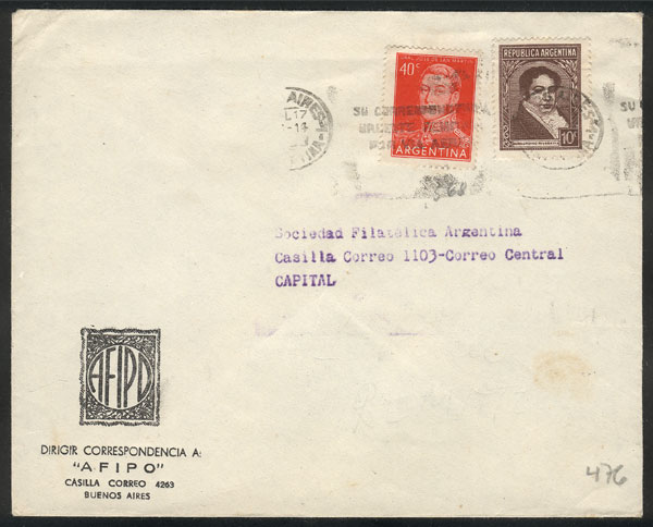 Lot 1623 - Argentina postal history -  Guillermo Jalil - Philatino Auction #1950 ARGENTINA:
